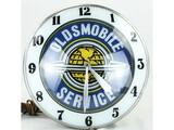 Oldsmobile Service Double Bubble Light Up Clock
