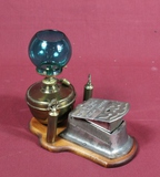 Antique Cast Iron & Brass Cigar Lighter & Cutter