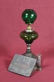 Antique Ornate Cast Iron Cigar Lighter & Cutter