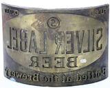 Silver Label Beer Brass Printing Block