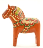 Swedish Red Dala Wood Horse