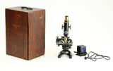 1950's Lukas Microscope in Wooden Box