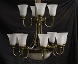 Contemporary 2 Tiers, 12 Lights Chandeliers (3)