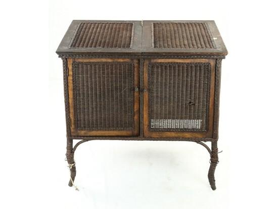Perfecktone Wicker Console Phonograph