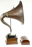 Edison Fireside Cylinder Phonograph w/Wood Horn