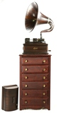 Edison Opera Mahogany Cylinder Phono w/Wood Horn