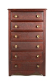 Mahogany Six Drawer Cylinder Record Cabinet