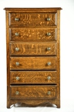 Oak Six Drawer Cylinder Record Cabinet