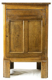 Oak Cylinder Record Cabinet
