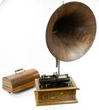 Edison Triumph Cylinder Phonograph w/Wood Horn