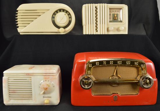 Delco, Firestone, Farnsworth, Crosley Radios