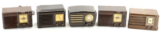 Crosley, Fada, Philco (2), & RCA Radios