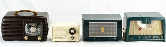 Delmonico, Philco, Emerson, & Zenith Radios