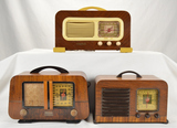 Lot of 3 Philco Wood Radios