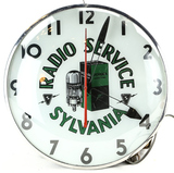 Sylvania Radio Service Light Up Clock