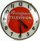 Pam Co. Westinghouse Television Light Up Clock