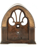 Philco Model 90 Tombstone Walnut Radio Case Only