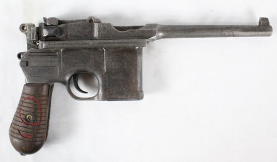 Mauser C96 Pistol w/ Red 9 Grips