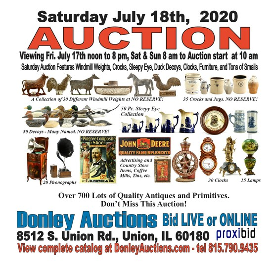 Great Selection of General Antiques Auction