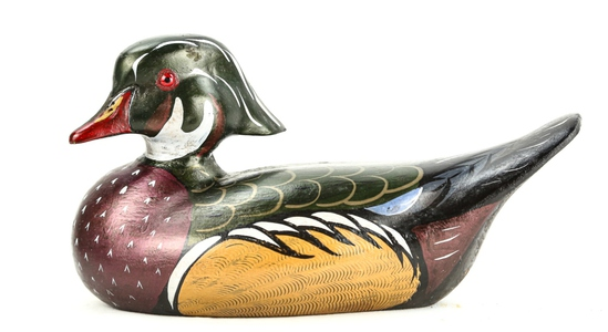 Wood Drake Duck Decoy