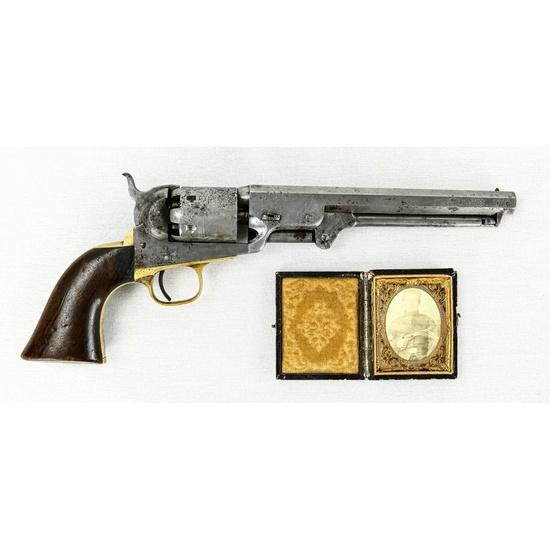 Colt 1851 Navy Revolver W/ Tintype(Photo)