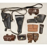 Leather Holster & Pouch Lot