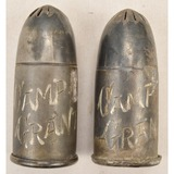 Lot of 2 WWI Trench Art