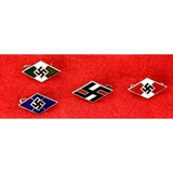 Lot of 4 German Hitler Youth Stick Pins