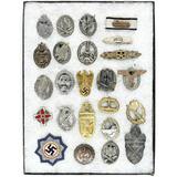 WWII Display Mount of Repro German Badges