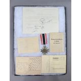 WWII German War Service Medal & Documents
