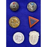 Lot of 6 WWII German Pins