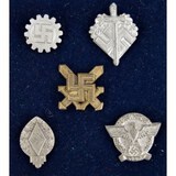 Lot of 5 WWII German Pins