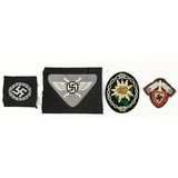 Lot of 4 WWII German Patches