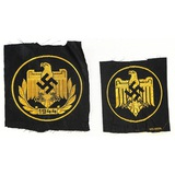 Lot of 2 WWII German Patches