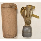 WWII German Late War Gas Mask W/Canister