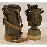 WWII German Gas Mask W/Canister