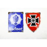 Lot of 2 WWII German Metal Signs