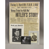 WWII Signed Photo and Newspaper