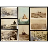 Lot of 8 WWI German Naval Postcards