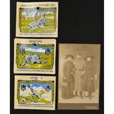 Lot of 6 WWI/WWII German Photos & Stickers
