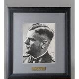 WWII Nazi Heinz Harmel Autographed Portrait