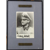 WWII Nazi SS Franz Hack Autographed Photograph