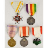 Lot of 5 Japanese Medals