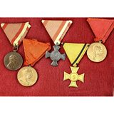 Lot of 5 WWI Austro-Hungarian Medals