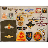 Lot of Foreign Wing Patches & Pins