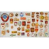 Lot of 40 Cold War Era Soviet Union Pins