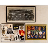 Lot of US Navy Patches, Pins, & Photo