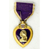 WWII US Named Purple Heart Medal