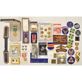 Lot of US Military Buttons, Patches, & Medals