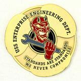 USS Enterprise Challenge Coin
